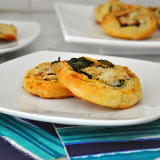 Savory Prosciutto and Spinach Pinwheels.