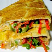 Vegetable Omelette A La Carte