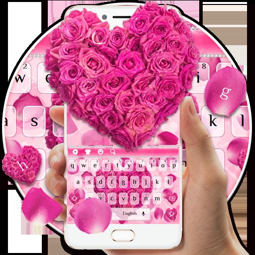 Pink Rose Petals Keyboard