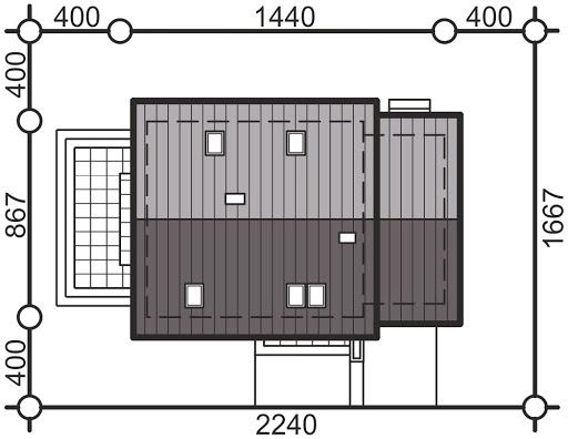 Pinczer 3 z garażem - Sytuacja