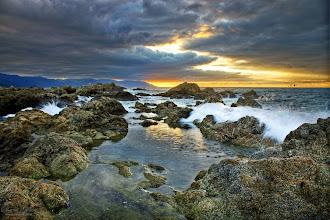 Photo: Conchas Chinas HDR at sunset