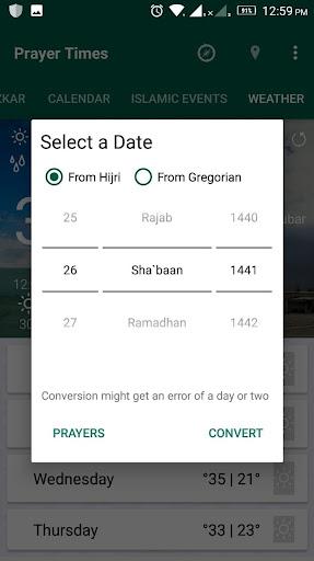 Prayer Times - Azan , Azkar , Qibla & Weather screenshots 6
