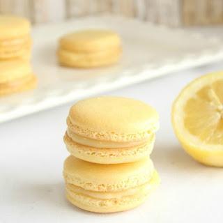 Lemon Macarons with Lemon Curd Filling.