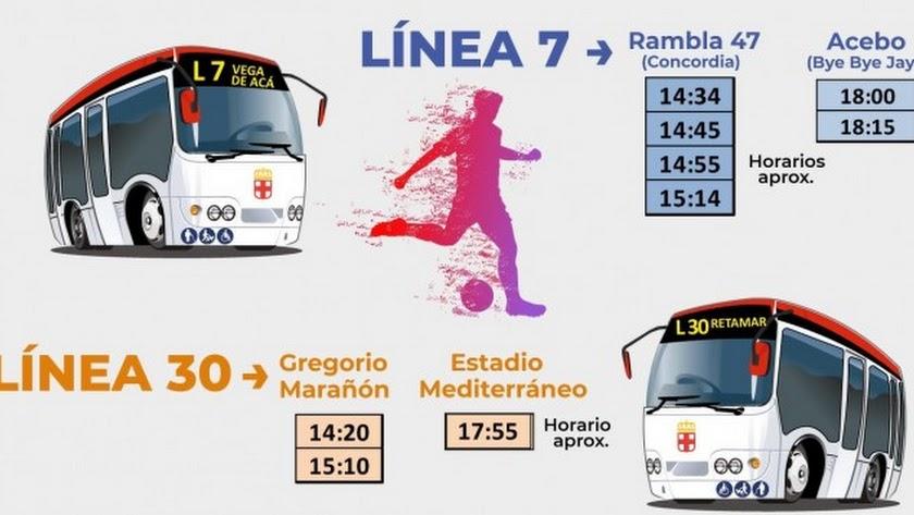Al fútbol en bus.