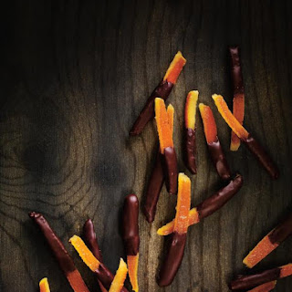 Chocolate-Dipped Candied Orange Peel.