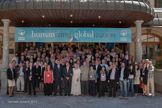 Photo: All the participants of the 2012 edition of the Zermatt Summit