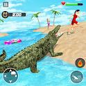 Animal Crocodile  Attack Sim icon