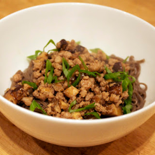Minced Pork with Soba Noodles.
