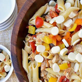 Gluten Free Italian Chicken Pasta Salad.