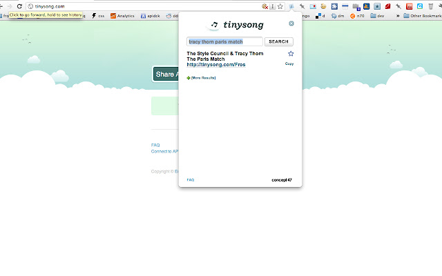 Tinysong Grooveshark Extension