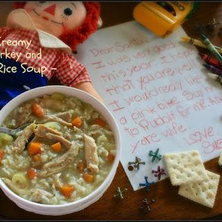 Creamy Turkey & Rice Soup