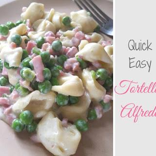 Quick Easy Tortellini Alfredo