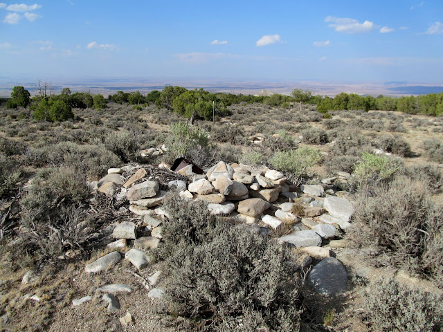 Rock pile at the original Fairview Ranch