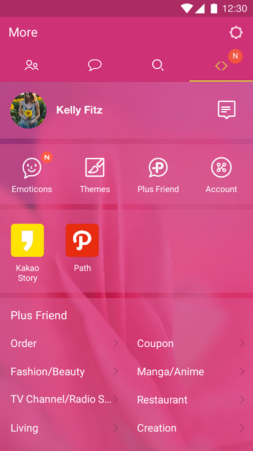 Pink Theme for KakaoTalk- screenshot