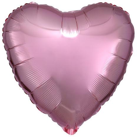 Folieballong, hjärta rose 43 cm