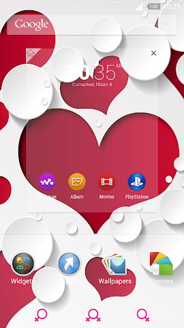 android For Xperia Theme Mylove Screenshot 3
