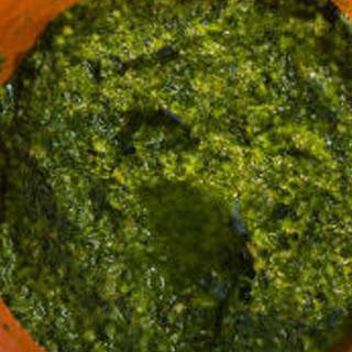Salsa Verde Parsley Garlic Sauce.
