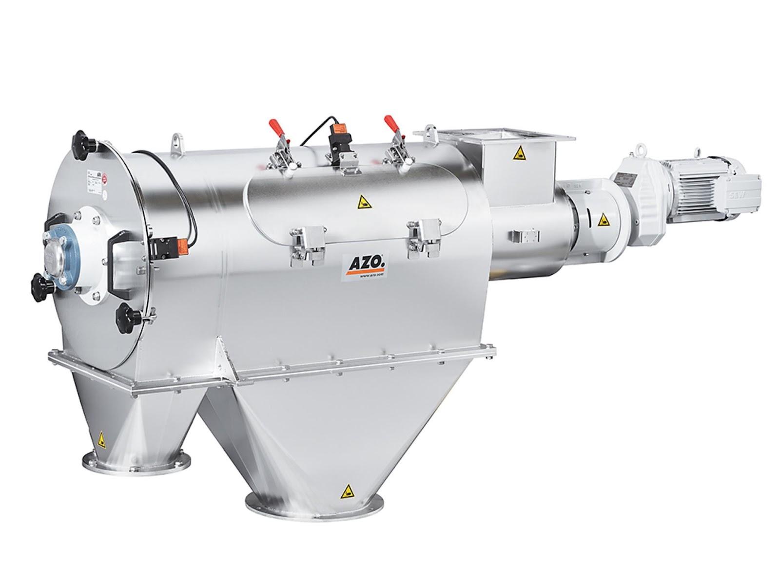 azo pneumatic cyclone screener system