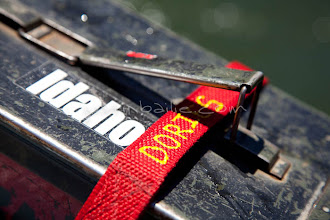 Photo: Ammo can with strap holding it onto raft. Ammo cans are used everywhere by river guides to store gear on river trips.