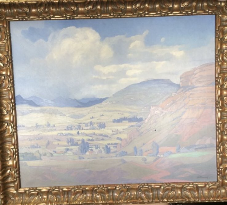 The Pierneef painting allegedly stolen from the former office of Ace Magashule.