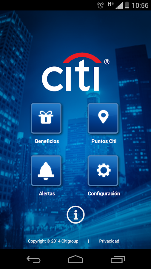 Citi Beneficios AR- screenshot