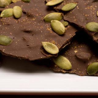 Chocolate-Toffee–Pumpkin Seed Bark