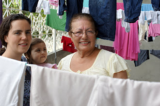 Photo: Laundry time after our Quito trip.