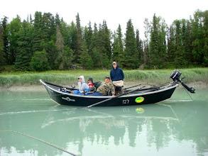 Photo: Nigel Fox of Alaska Drift Away Fishing fishing the tide on the Kasilof river.