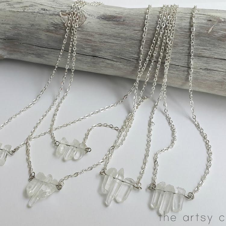 Snow Queen Quartz - Short Necklace