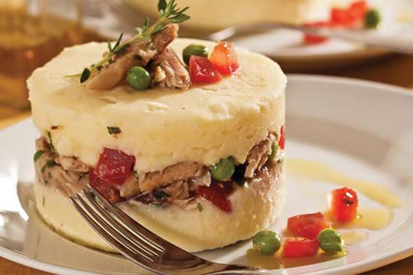 Salada Enformada de Batata Maionese e Sardinha