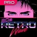 Retrowave Wallpapers PRO (Live Walls,GIFs & Radio) icon