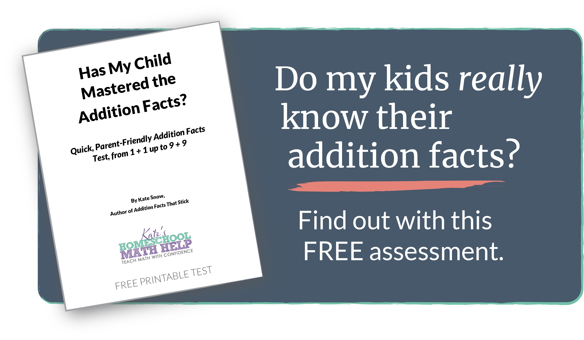 Quick, Parent-Friendly (and Free!) Printable Addition Facts Test