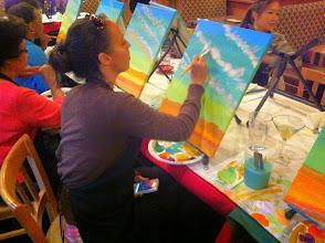 Photo: Eva at Painting Class