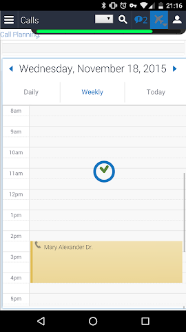 android Siebel Screenshot 3