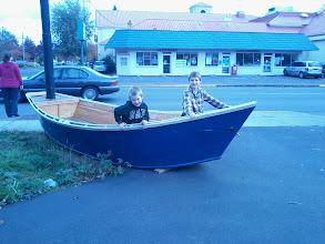 Photo: boat capturing pirates? nah, just my 2 crazy boys