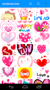 Emoticons Cute Love screenshot 1
