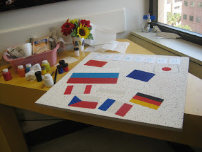 Photo: Designing flags and letters...