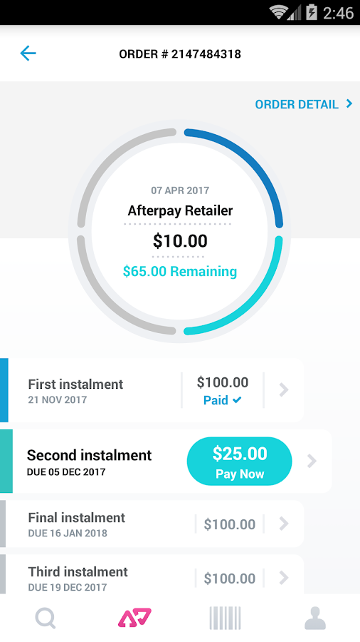 Afterpay- screenshot