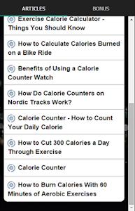Exercise Calorie Counter screenshot 3
