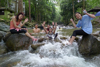 Photo: Time for a dip and relaxation in the stream