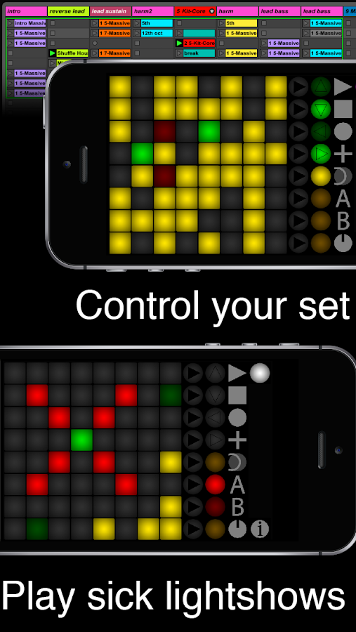 launch buttons ableton midi controller android apps on google play. Black Bedroom Furniture Sets. Home Design Ideas
