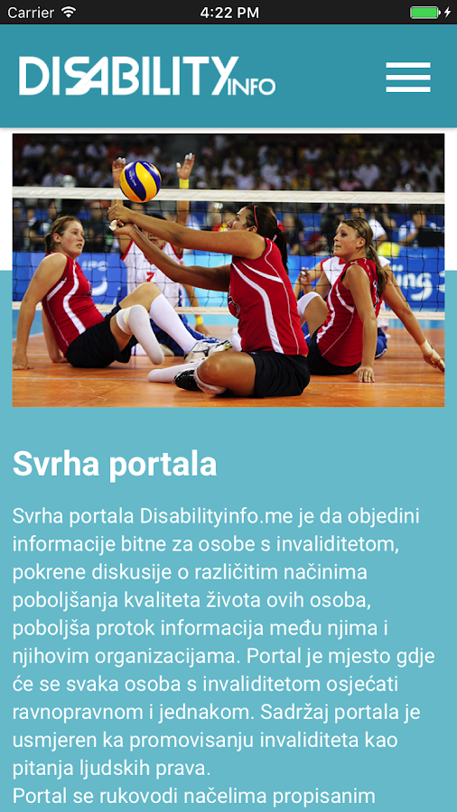 DisabilityInfo- screenshot