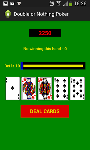 Double or Nothing Poker