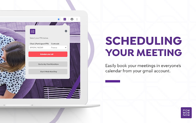 PowWowNow scheduling plugin for Gmail