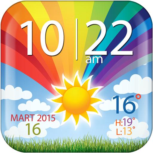 カラフル時計と天気のウィジェット 天氣 App LOGO-硬是要APP