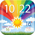 Colorful Clock Weather Widget icon