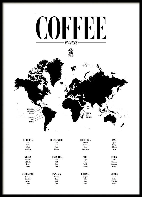 COFFEE GUIDE, POSTER