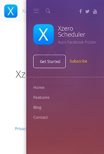 Xzero Scheduler - Facebook Auto Post & Scheduler - náhled