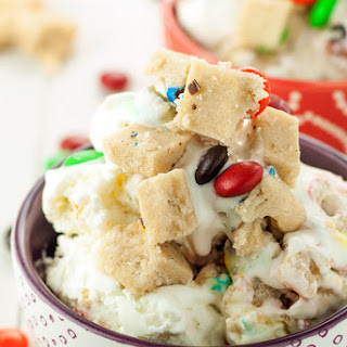 No Churn M&M's® Cookie Dough Ice Cream