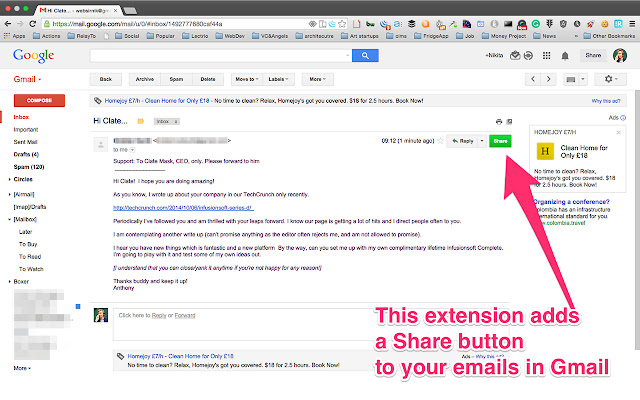 Maild - Share and embed your emails